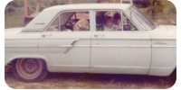 9 year old driving 64 Ford Fairlane