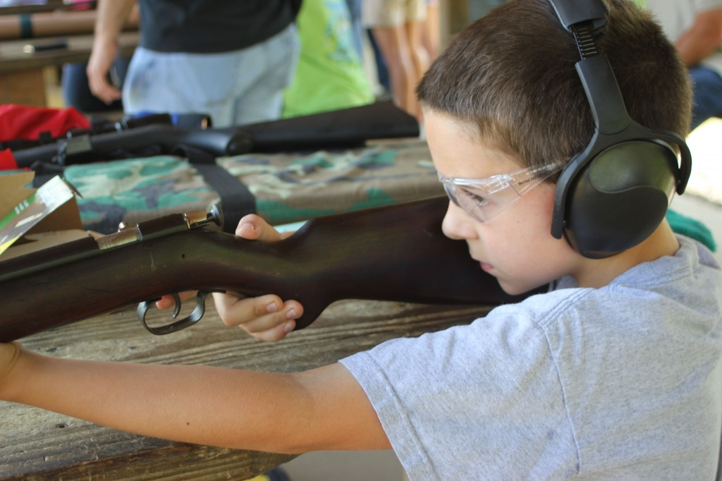 9 Year Old Firing a Winchester Model 67
