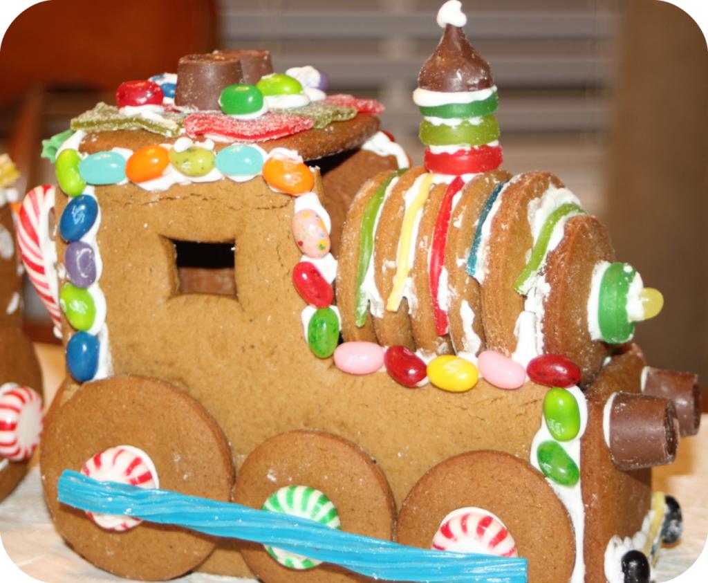 Gingerbread Train Engine