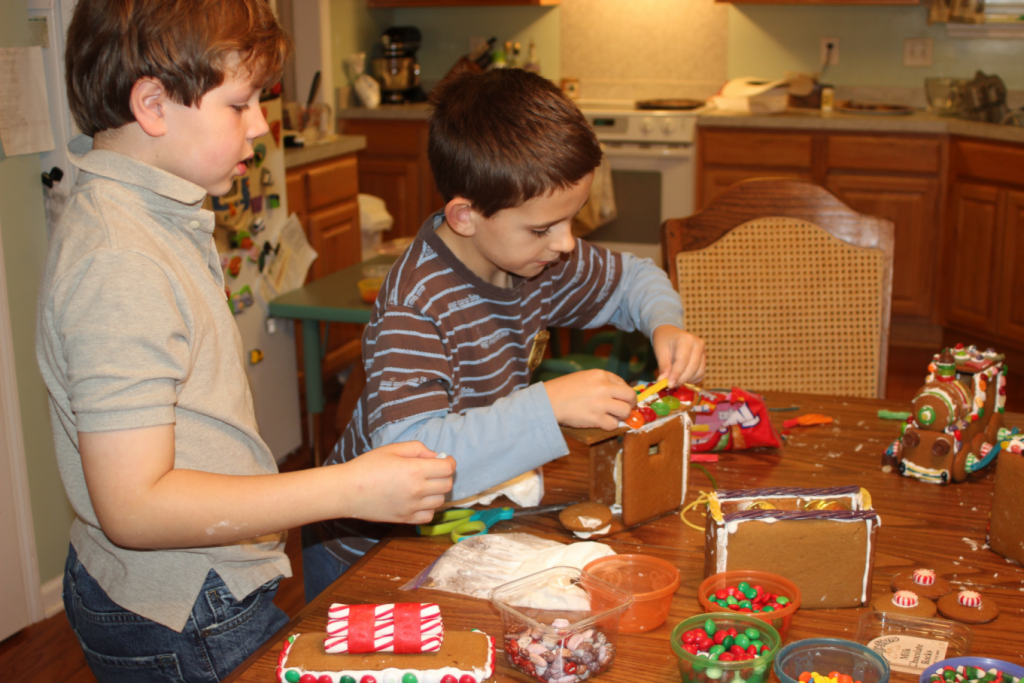 Gingerbread Train Decorating