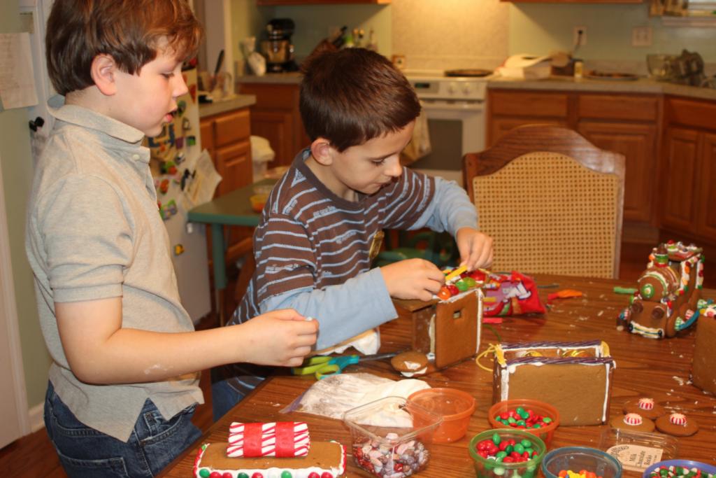 Gingerbread Train Decorating